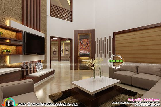 Dining area and living interior designs kerala home for Home designers in my area