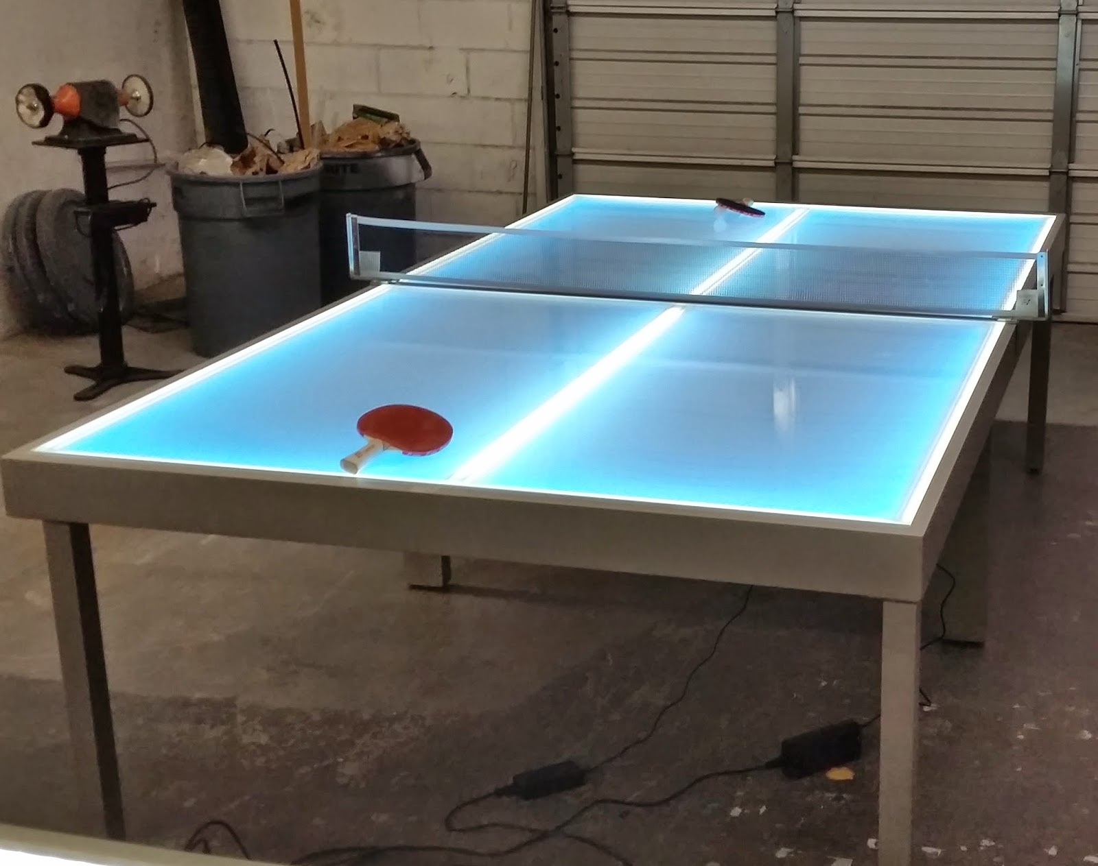 Barchefs Light Up Table Tennis Lighted Ping Pong Tables