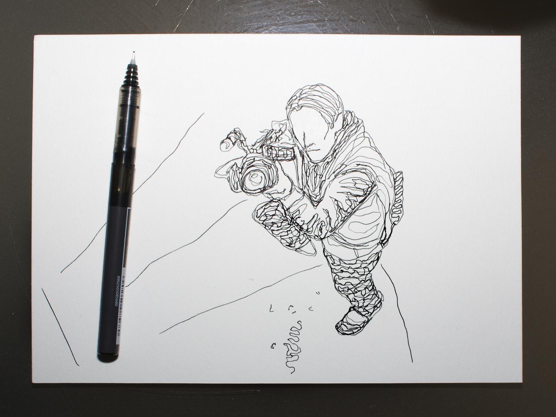 Ilustración creada por Pelayo Rodríguez sobre NightCrawler