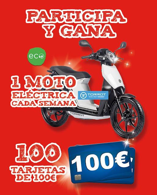 Sorteo motos eléctricas y tarjetas regalo