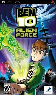 Ben 10 Alien Force PSP Ukuran Kecil