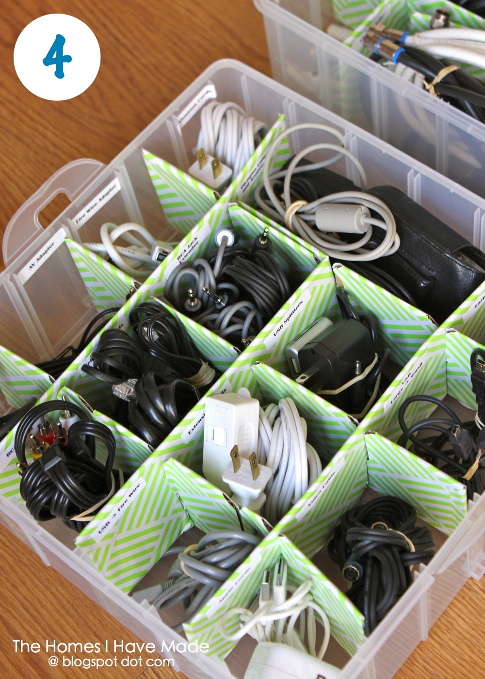 Organize Your Cords Using An Ornament Box The Homes I