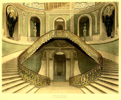 Grand Staircase, Carlton House,  from Ackermann's Repository (1812)