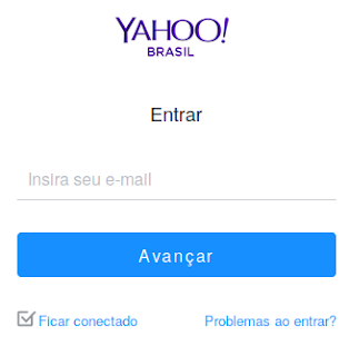 E-mail para entrar no Yahoo
