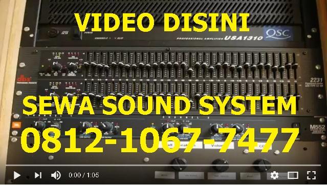 Harga sewa sound system jakarta pusat
