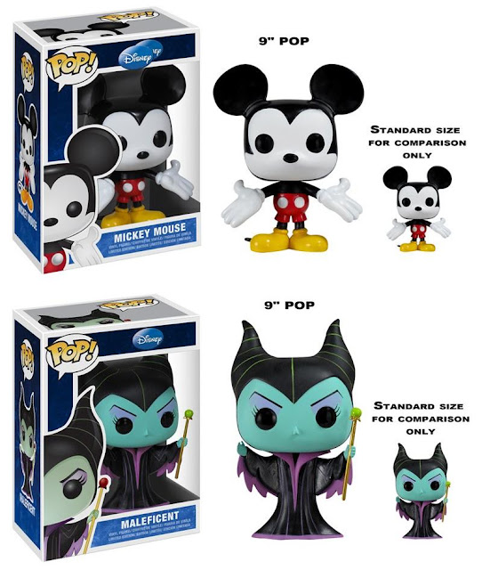 Disney 9 Inch Pop! Series 1 by Funko – Mickey Mouse & Maleficent