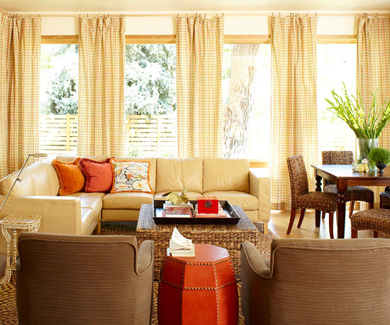 Tangerine And Tomato Throw Pillows Studded Ottoman From Better Homes Gardens