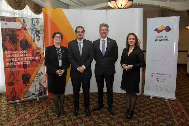 Primera cumbre empresarial Australia-Ecuador promovió el modelo australiano de minería y educación en el país