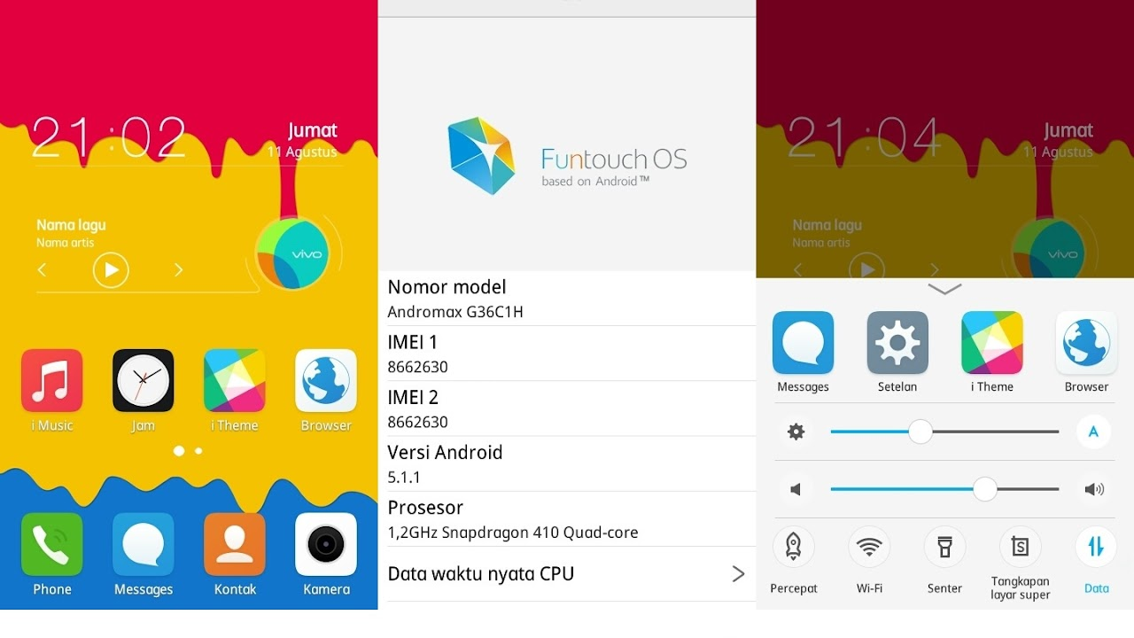 Custom ROM Vivo V2 Funtouch OS 2 5 untuk Andromax A (Terbaru)