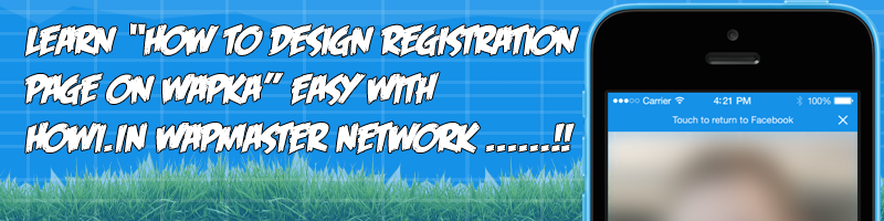 design registration page on wapka