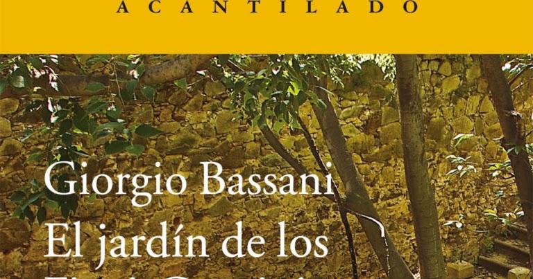 Ciudad de az far libros y m s libros algunas recomendaciones literarias para esta navidad - El jardin de los finzi contini ...