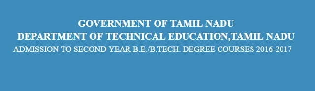 TNLEA Admissions 2016 Application for BE BTech