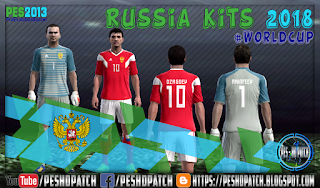 Russia World Cup 2018 kits for PES 2013