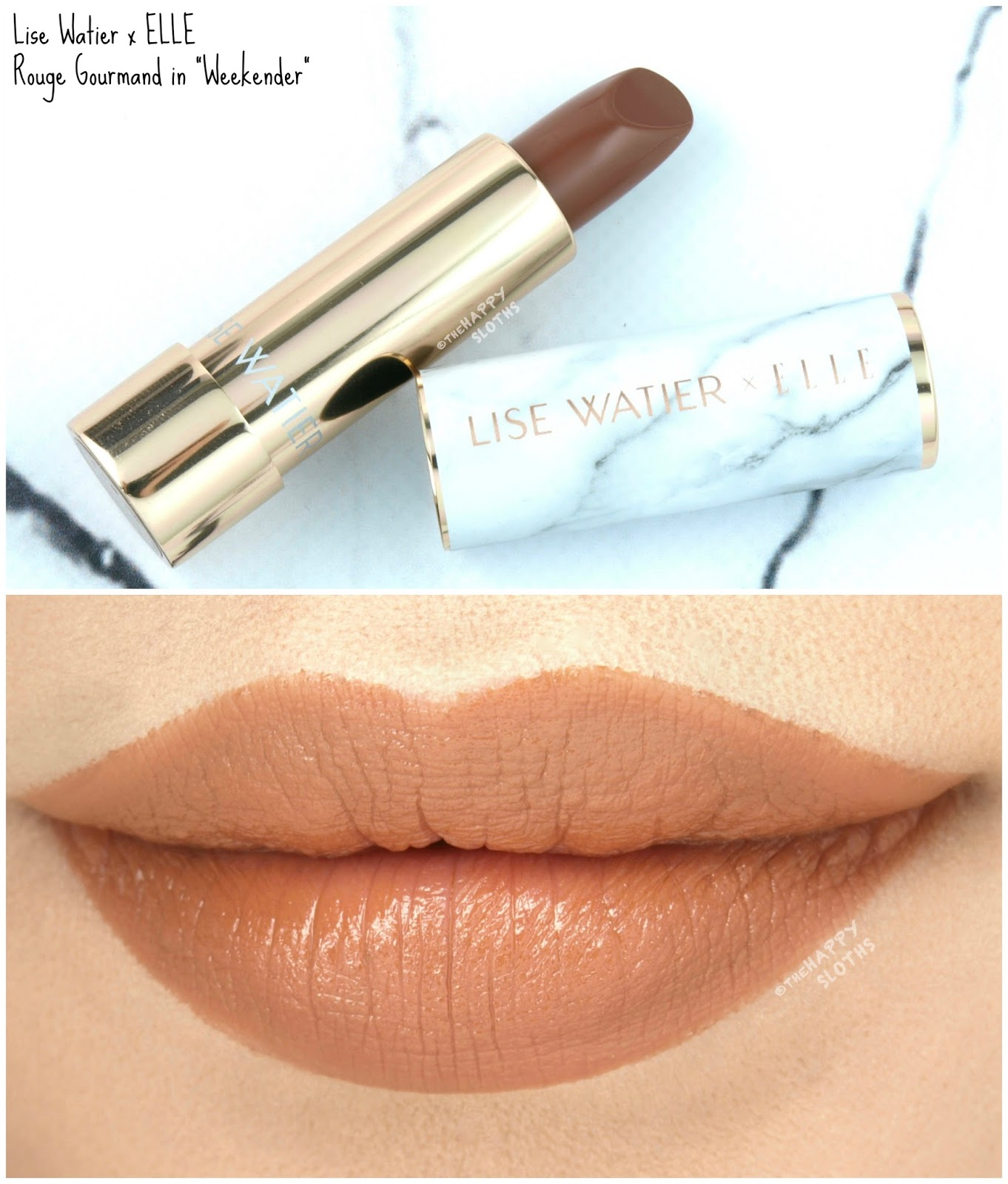 "Lise Watier x ELLE Rouge Gourmand Lipstick in ""Weekender"": Review and Swatches"
