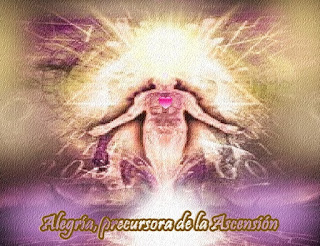 La Alegría es la precursora de la Ascensión y puede comenzar a fluir a través del Cielo, una hoja, un animal o un Ser humano, no es sólo un Campo de Energía, es la puerta a su realidad de Quinta Dimensión de la Nueva Tierra.