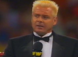 WWF / WWE Summerslam 1989 - 'Rugged' Ronnie Garvin was the special guest ring announcer for the Greg Valentine vs. Hercules match