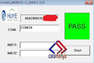 Cara Write MEID / IMEI Null All Andromax QUALCOMM :