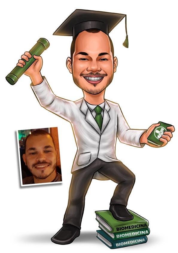 caricatura biomedicina