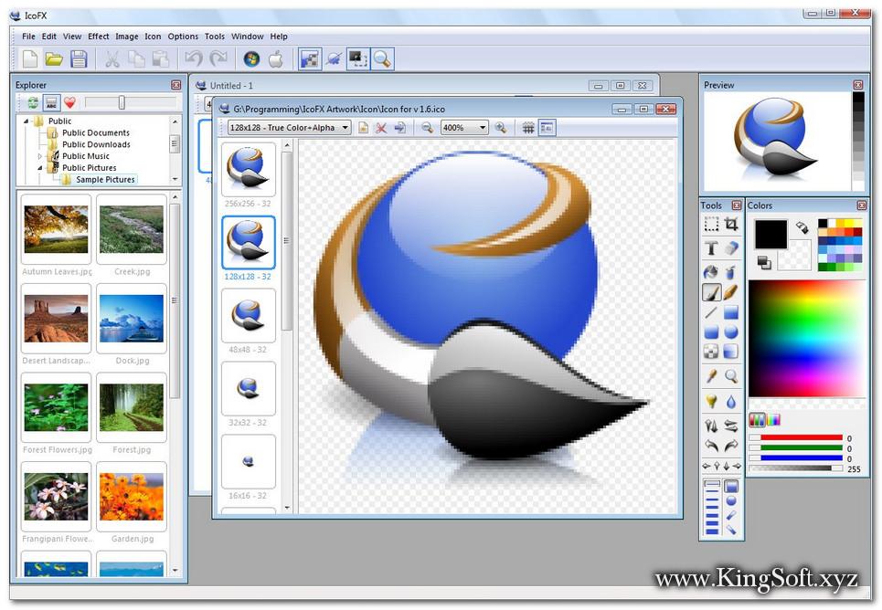 IcoFX 3.2.1 Full Key, Phần mềm thiết kế ICON nhỏ gọn và chuyên nghiệp