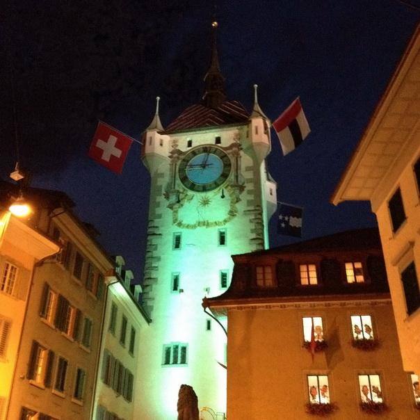 Badenfahrt Baden Stadt Stadtturm Flaggen