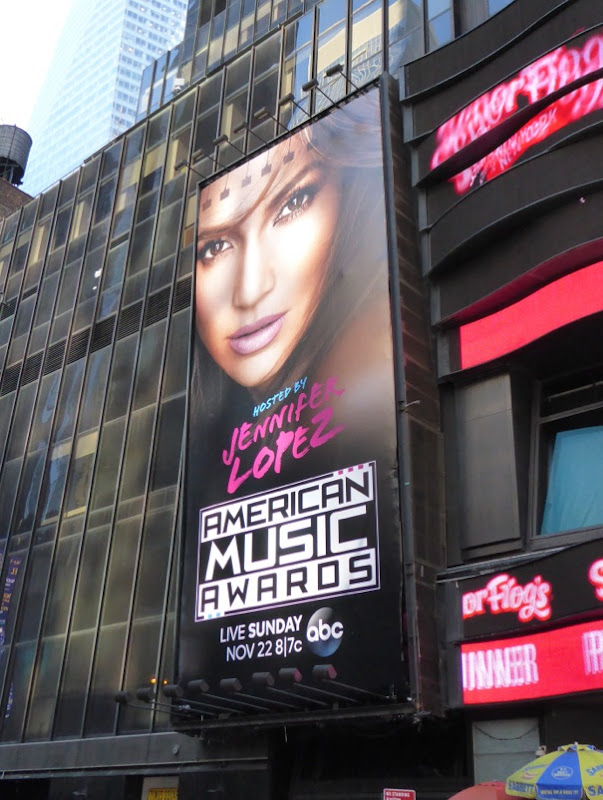 JLO American Music Awards 2015 billboard NYC