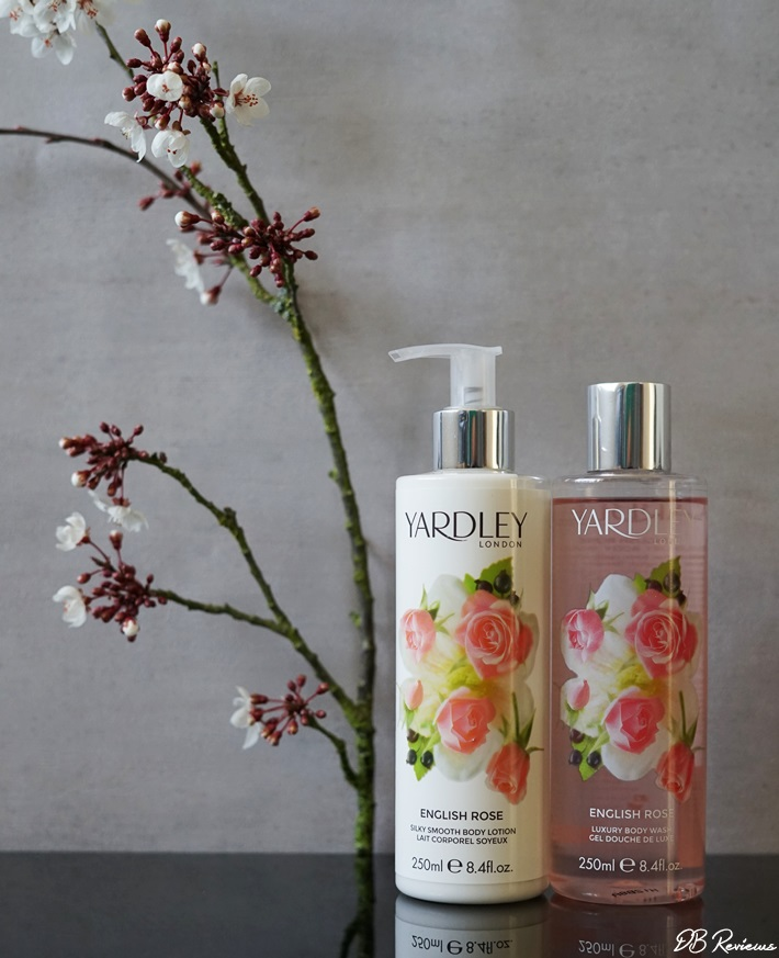 Yardley English Rose Luxury Body Wash and Silky Smooth Body Lotion