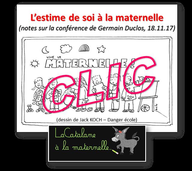 """Conférence """"L'estime de soi à la maternelle"""" (CR LaCatalane)"""
