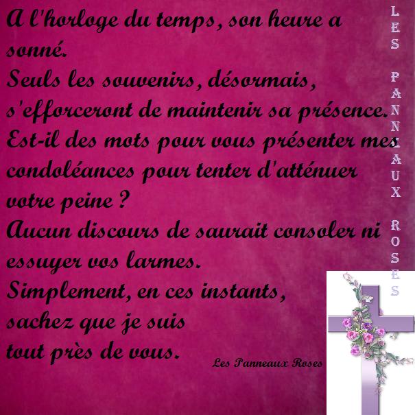 Espace Deuil Réconfort Panneau Rose De Condoléances