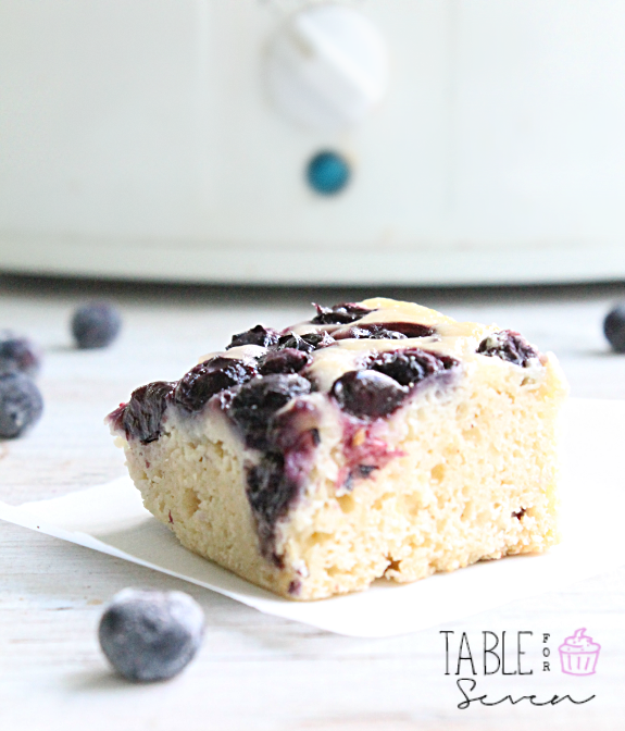 Crock Pot Blueberry Snack Cake