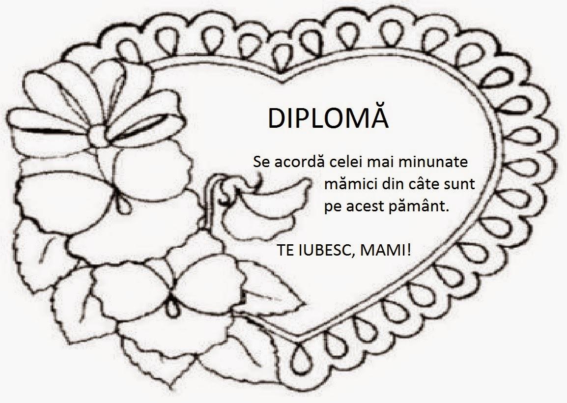 Lumea lui Scolarel...: Diplome pentru mama (de colorat)
