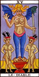 La carte du diable, exemple de carte NON pour un tirage OUI NON