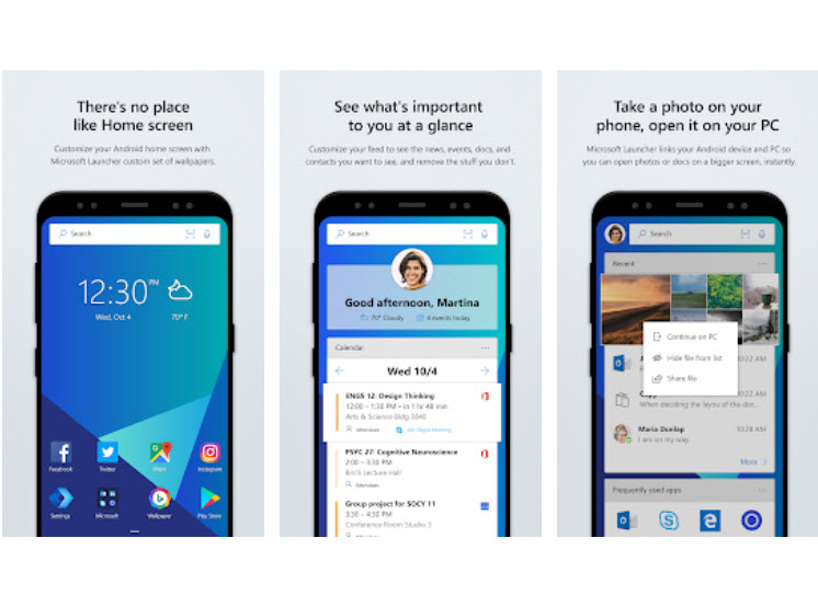 Microsoft lança actualização do Microsoft Launcher ~ Apps do Android