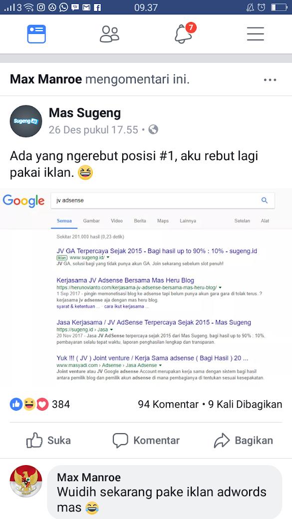 Meningkatkan Hasil Google Adsense  Tanpa Harus Mikirin Trafik blog
