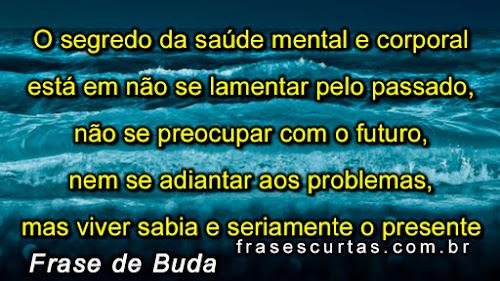 frases de Buda sobre segredo da saúde mental e corporal