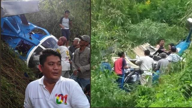 Helikopter yang Ditumpangi Kader PPP Jatuh di Tasikmalaya