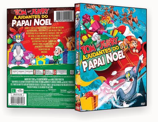 CAPA DVD – Tom e Jerry Ajudantes do Papai Noel DVD-R 2018