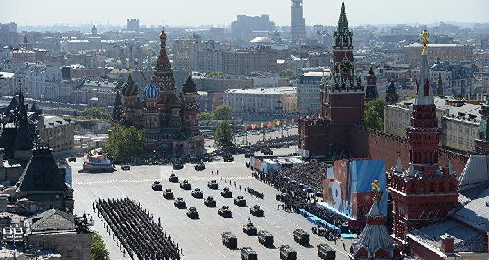 Pawai Kemenangan Rusia Kembali Jadi Ajang Pamer Senjata