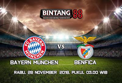 Prediksi Bayern Munchen Vs Benfica 28 November 2018