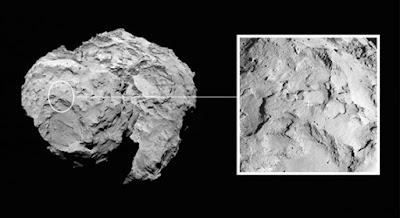 Il sito di atterraggio per il lander Philae