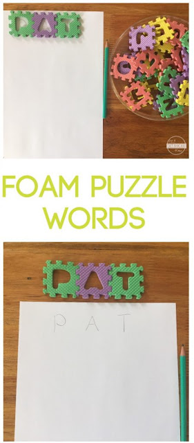 Foam Spelling Words is a fun hands on spelling activity that helps kids in kindergarten, first grade, 2nd grade, 3rd grade, and 4th grade practice spelling words with any spelling list
