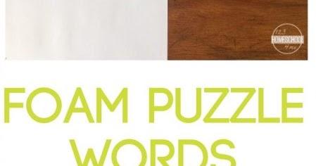 Foam Spelling Words on Block Bridges Cvc Words Activity