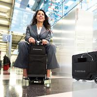 Modobag est une valise équipée d'un moteur électrique pour se déplacer facilement dans les aéroports.