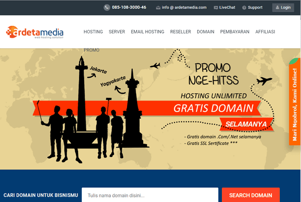 Ardetmedia Beli Domain & Hosting Terpercaya