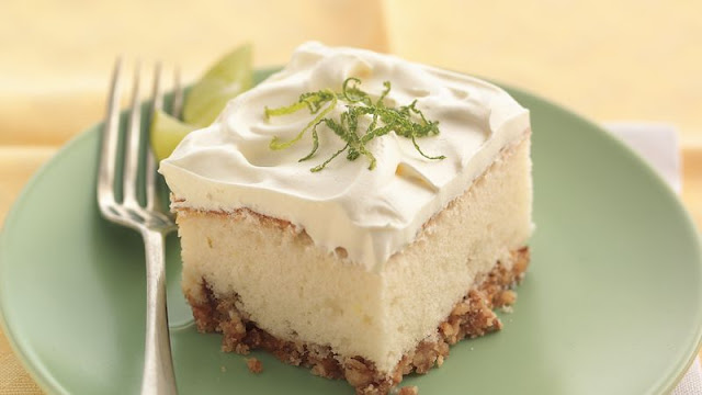 Margarita cake offers the favorite sweet and salty combo with a crunchy pretzel crust Margarita Cake Recipe