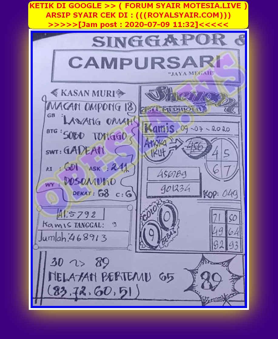 Kode syair Hongkong Kamis 9 Juli 2020 68