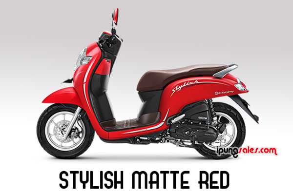 Honda-Scoopy-2019-matte-red