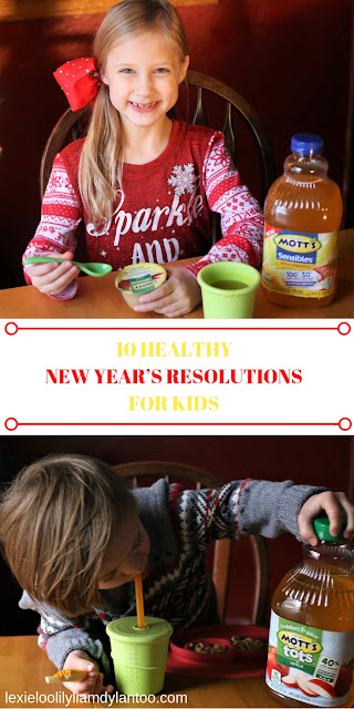 10 HEALTHY NEW YEAR'S RESOLUTIONS FOR KIDS - With the start of the new year, many people are making resolutions or goals to improve themselves and their lives. Although I set goals for myself each year, I also try to make some family goals. This year, I'm doing something different: I'm encouraging my children to come up with their own goals to work toward in 2019! Here are 10 Healthy New Year's Resolutions for kids, featuring the great products from @Motts at @Target! https://ooh.li/b28184d #ad #gettheMottsoutoflife #healthysnacksforkids #healthysnacks #healthyliving #kidshealth