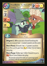 My Little Pony Hooffields & McColts, Uneasy Truce Defenders of Equestria CCG Card