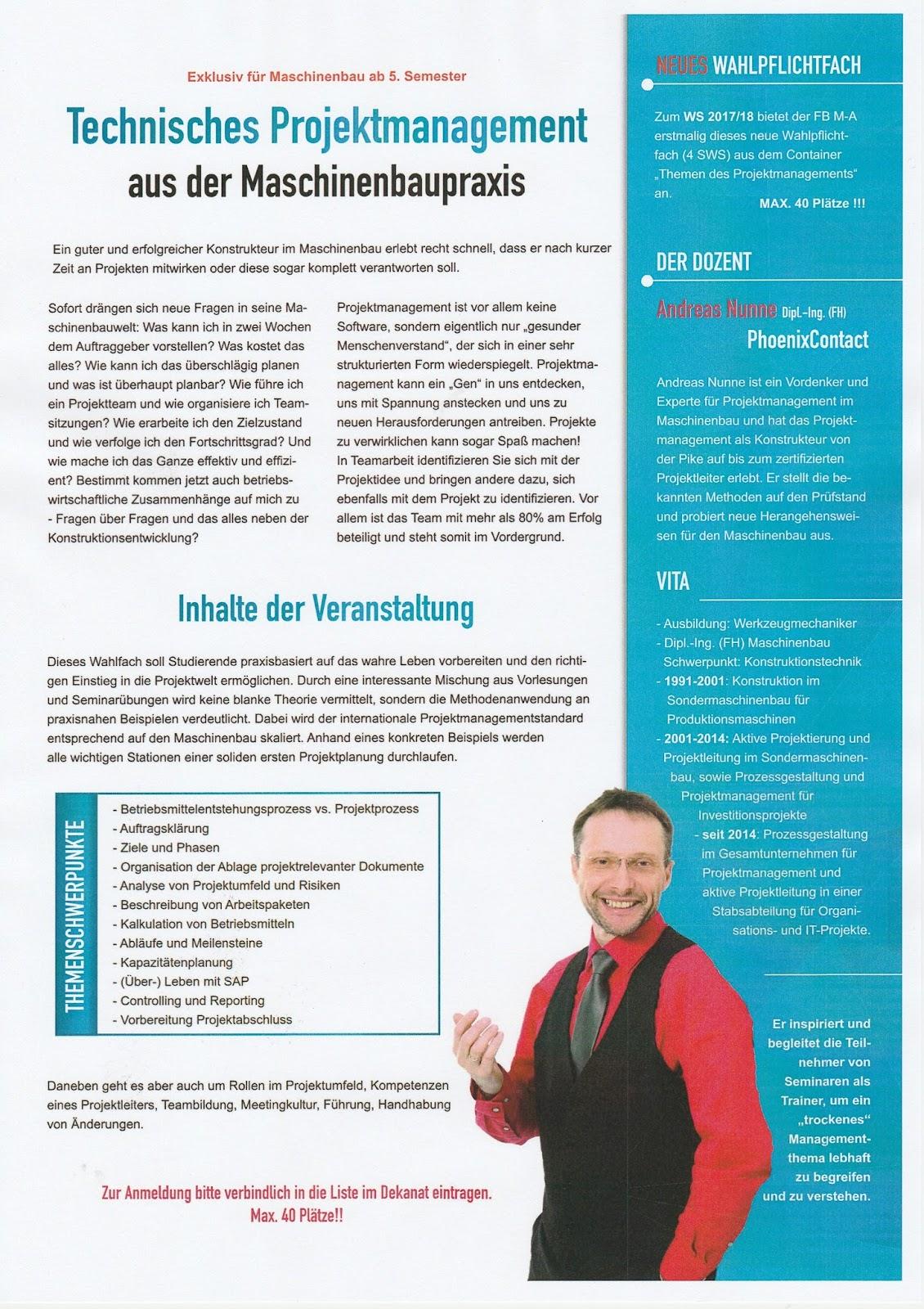 Projektmanagementkompetenz: Lehrauftrag Hochschule
