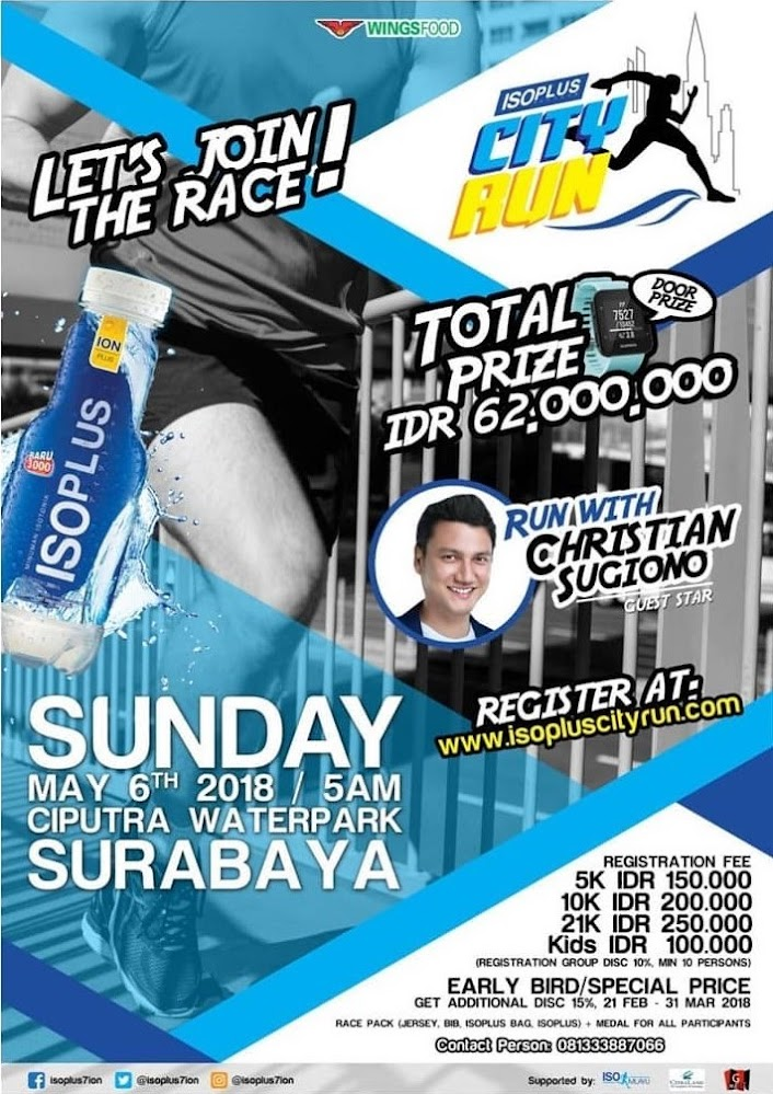 Isoplus City Run - Surabaya • 2018